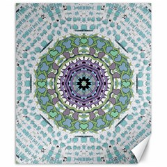 Hearts In A Decorative Star Flower Mandala Canvas 8  X 10  by pepitasart