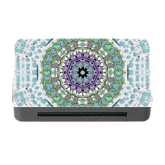 Hearts In A Decorative Star Flower Mandala Memory Card Reader With Cf by pepitasart