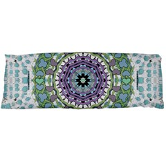 Hearts In A Decorative Star Flower Mandala Body Pillow Case Dakimakura (two Sides) by pepitasart