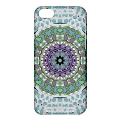 Hearts In A Decorative Star Flower Mandala Apple Iphone 5c Hardshell Case by pepitasart