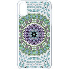 Hearts In A Decorative Star Flower Mandala Apple Iphone X Seamless Case (white) by pepitasart