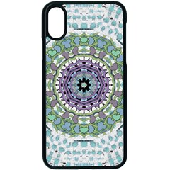 Hearts In A Decorative Star Flower Mandala Apple Iphone X Seamless Case (black) by pepitasart