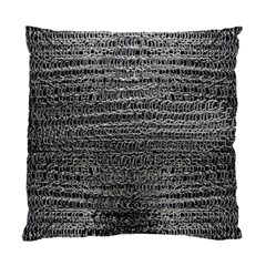 Silver Chain Maille Print Standard Cushion Case (one Side) by bloomingvinedesign