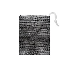 Silver Chain Maille Print Drawstring Pouches (small)