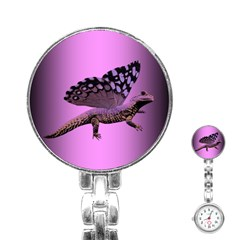 Flutter Dragon Pink Stainless Steel Nurses Watch