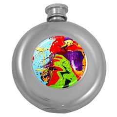 Untitled Island 5 Round Hip Flask (5 Oz) by bestdesignintheworld