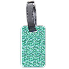 Green Leaves Pattern Luggage Tags (one Side)  by nomadsoul