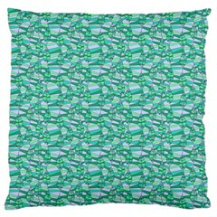 Green Leaves Pattern Large Cushion Case (one Side) by nomadsoul