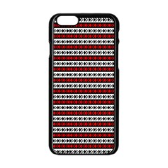 Arrow Pattern Apple Iphone 6/6s Black Enamel Case by nomadsoul