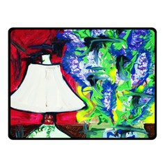 Lilac, Lamp And Curtain Window 2 Double Sided Fleece Blanket (small)
