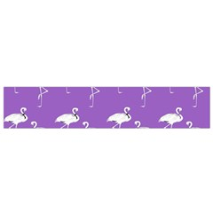 Flamingos Pattern White Purple Small Flano Scarf by CrypticFragmentsColors