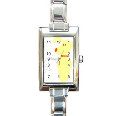 Mutt Dog Animal Domestic Vector Rectangle Italian Charm Watch
