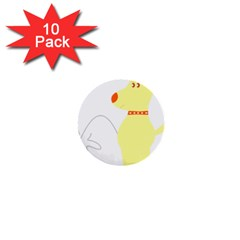 Mutt Dog Animal Domestic Vector 1  Mini Buttons (10 Pack)