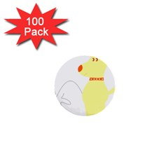 Mutt Dog Animal Domestic Vector 1  Mini Buttons (100 Pack)