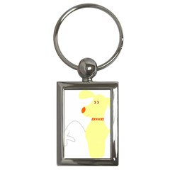 Mutt Dog Animal Domestic Vector Key Chains (rectangle)