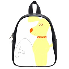 Mutt Dog Animal Domestic Vector School Bag (small)