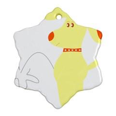 Mutt Dog Animal Domestic Vector Ornament (snowflake)