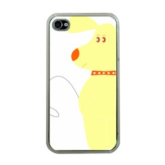 Mutt Dog Animal Domestic Vector Apple Iphone 4 Case (clear)