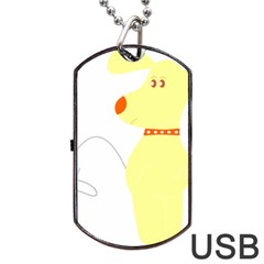 Mutt Dog Animal Domestic Vector Dog Tag Usb Flash (one Side)