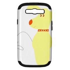 Mutt Dog Animal Domestic Vector Samsung Galaxy S Iii Hardshell Case (pc+silicone)