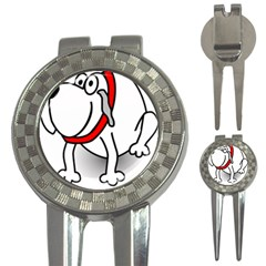 Dog Animal Pet Grin Sit Happy 3 In 1 Golf Divots
