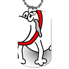 Dog Animal Pet Grin Sit Happy Dog Tag (two Sides)