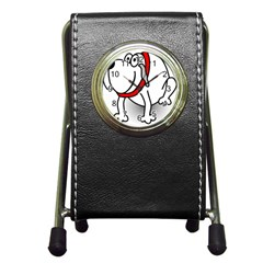 Dog Animal Pet Grin Sit Happy Pen Holder Desk Clocks