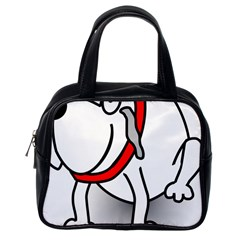 Dog Animal Pet Grin Sit Happy Classic Handbags (one Side)