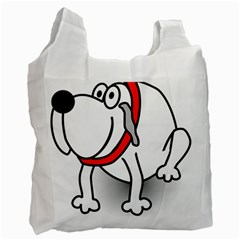 Dog Animal Pet Grin Sit Happy Recycle Bag (one Side)
