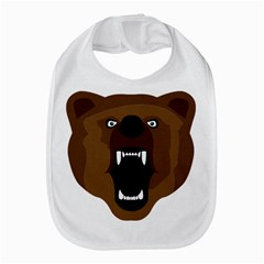 Bear Brown Set Paw Isolated Icon Bib