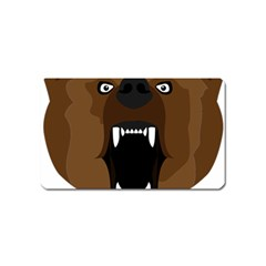 Bear Brown Set Paw Isolated Icon Magnet (name Card)