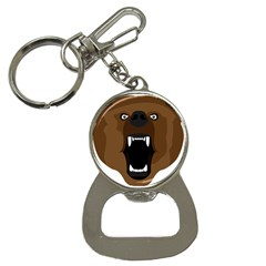 Bear Brown Set Paw Isolated Icon Bottle Opener Key Chains
