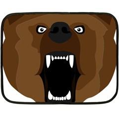 Bear Brown Set Paw Isolated Icon Fleece Blanket (mini)