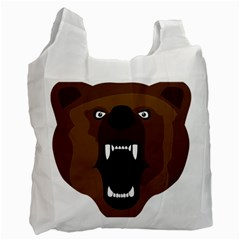 Bear Brown Set Paw Isolated Icon Recycle Bag (one Side)