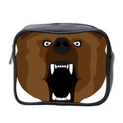 Bear Brown Set Paw Isolated Icon Mini Toiletries Bag 2 Side by Nexatart