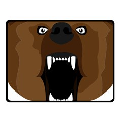 Bear Brown Set Paw Isolated Icon Fleece Blanket (small)