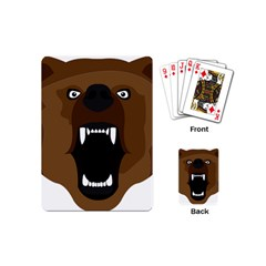 Bear Brown Set Paw Isolated Icon Playing Cards (mini)