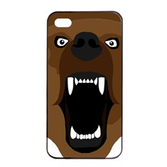 Bear Brown Set Paw Isolated Icon Apple Iphone 4/4s Seamless Case (black)