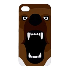 Bear Brown Set Paw Isolated Icon Apple Iphone 4/4s Hardshell Case