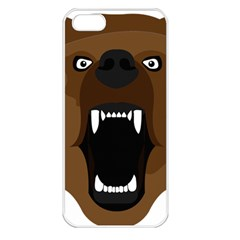 Bear Brown Set Paw Isolated Icon Apple Iphone 5 Seamless Case (white)