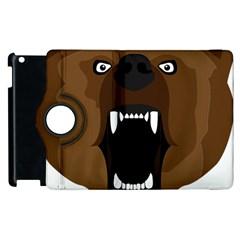 Bear Brown Set Paw Isolated Icon Apple Ipad 2 Flip 360 Case