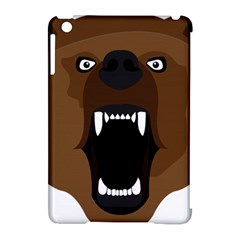 Bear Brown Set Paw Isolated Icon Apple Ipad Mini Hardshell Case (compatible With Smart Cover)