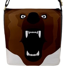 Bear Brown Set Paw Isolated Icon Flap Messenger Bag (s)