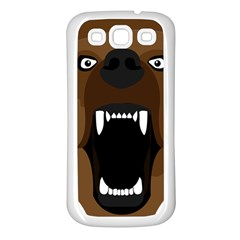 Bear Brown Set Paw Isolated Icon Samsung Galaxy S3 Back Case (white)