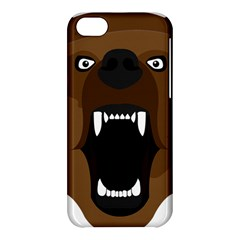 Bear Brown Set Paw Isolated Icon Apple Iphone 5c Hardshell Case