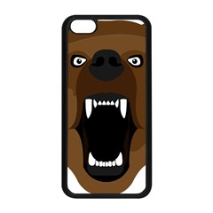 Bear Brown Set Paw Isolated Icon Apple Iphone 5c Seamless Case (black) by Nexatart