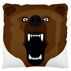 Bear Brown Set Paw Isolated Icon Large Flano Cushion Case (two Sides)