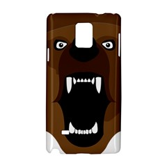 Bear Brown Set Paw Isolated Icon Samsung Galaxy Note 4 Hardshell Case