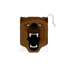 Bear Brown Set Paw Isolated Icon Drawstring Pouches (xs)  by Nexatart