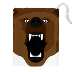 Bear Brown Set Paw Isolated Icon Drawstring Pouches (xxl)